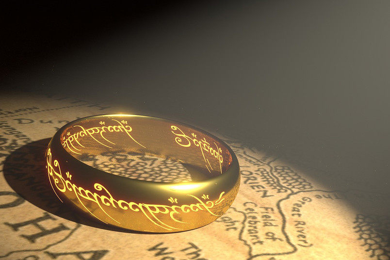 Der goldene Ring aus den Geschichten Tolkiens