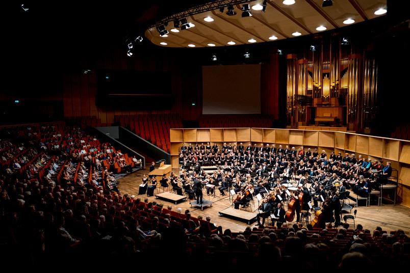 Musiker bei einem Konzert im Audimax