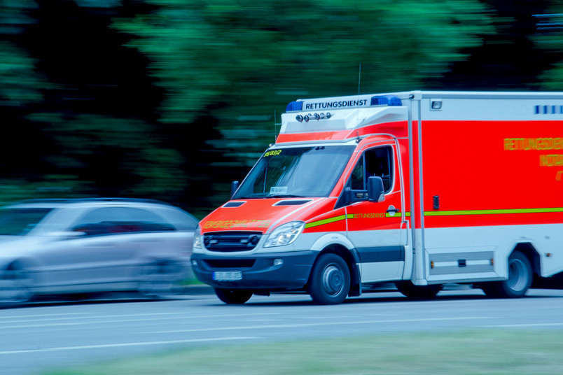 Rettungswagen in Fahrt