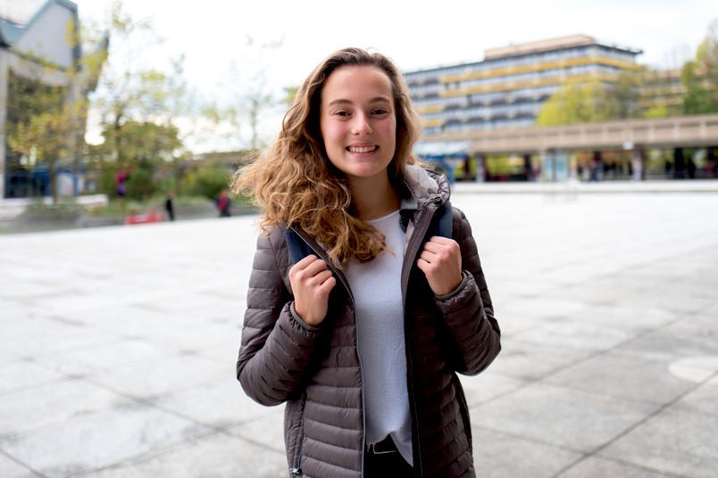 <div> Lea Eckert nutzte die Herbstferien, um den Campus der RUB kennenzulernen.</div>