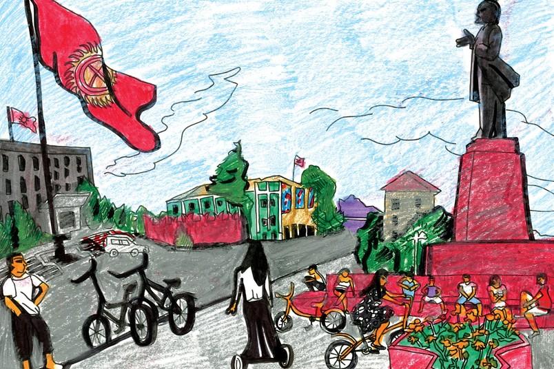 Zeichnung von Viktoria Lomasko