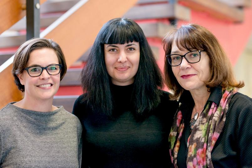Drei Wissenschaftlerinnen