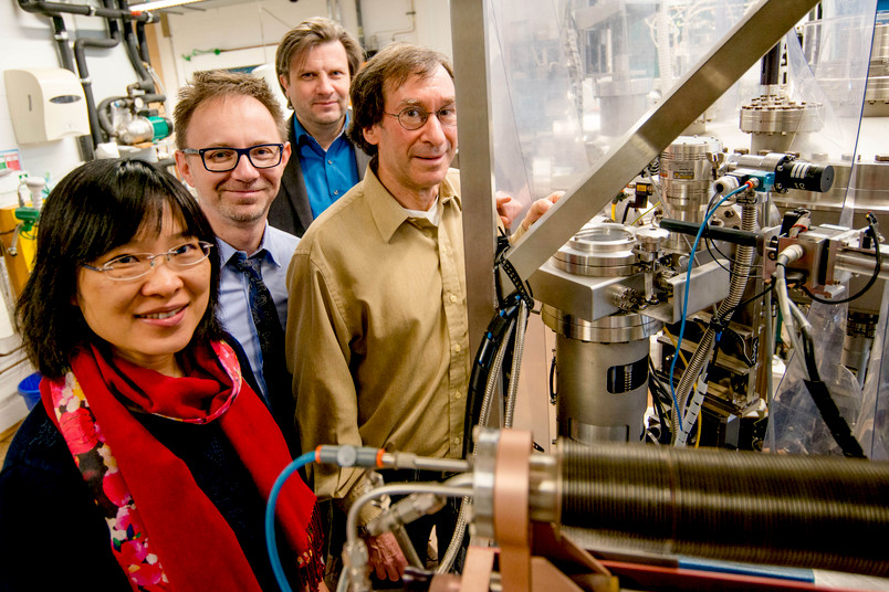 Vier Forscher im Labor
