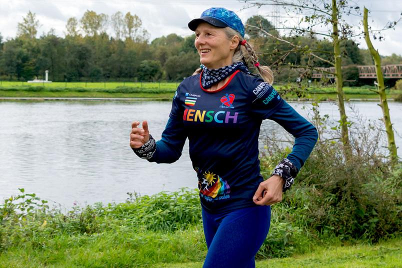 Verena Liebers beim Joggen