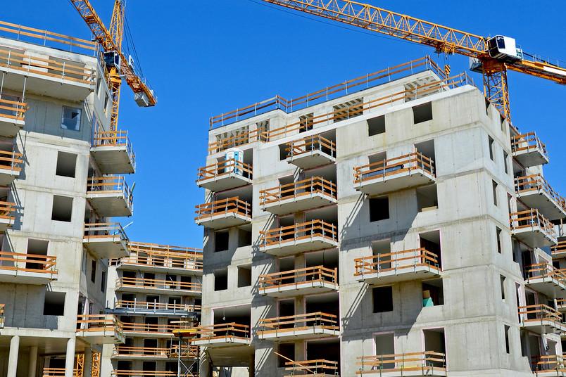 Wohngebäude im Bau