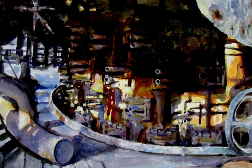 Industrieanlage als Gemälde