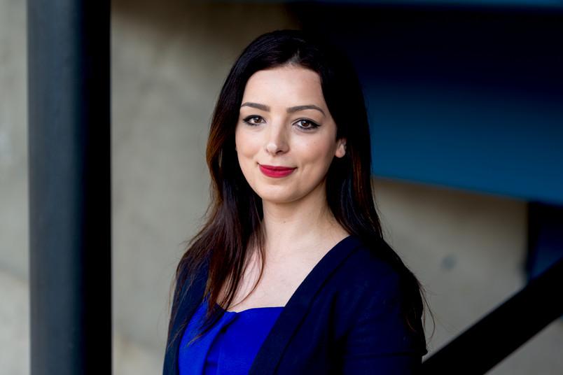 <div> Teuta Abazi egangiert sich im Alumni-Netzwerk der RUB.</div>