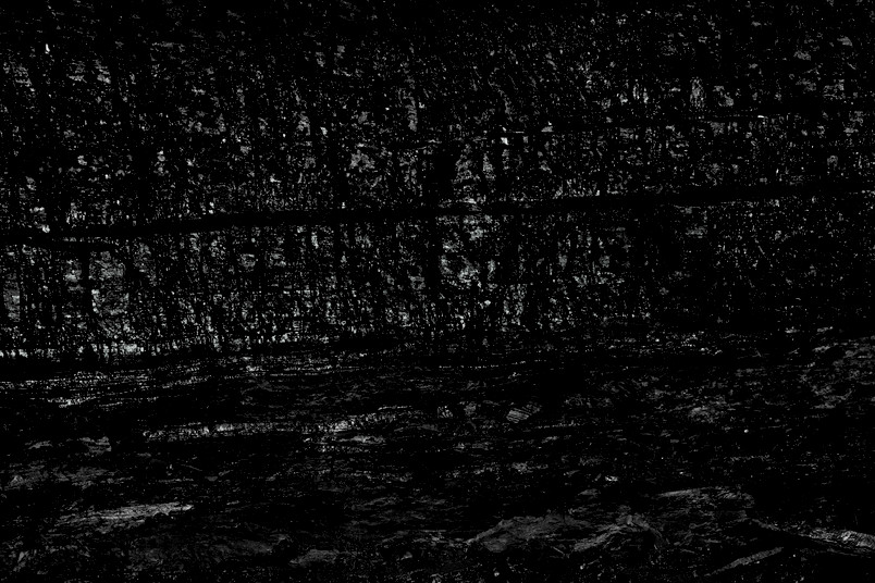 Kohleflöz künstlerisch fotografiert