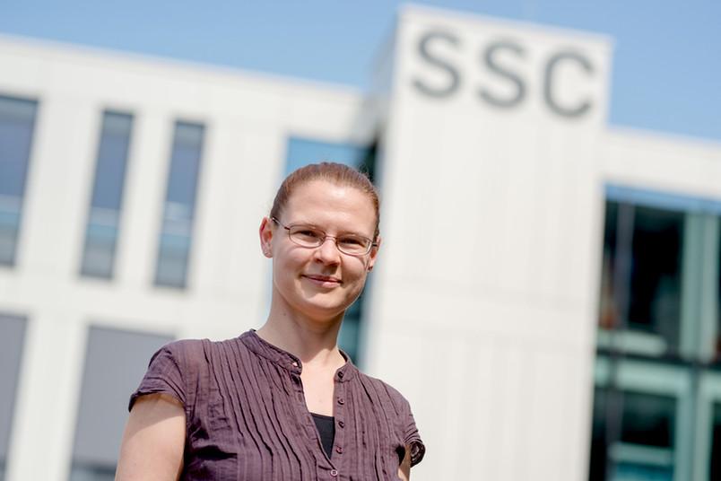 <div> Janine Kleinbauer berät Studierendenzweifler.</div>