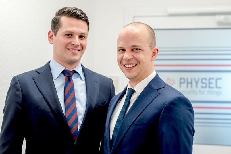 Christian Zenger (links) und Heiko Koepke haben Physec gegründet.