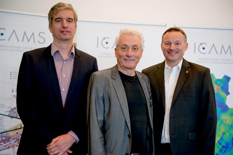 Gründungsdirektoren des Instituts – Prof. Dr. Ralf Drautz, Prof. Dr. Ingo Steinbach und Prof. Dr. Alexander Hartmaier (von links)