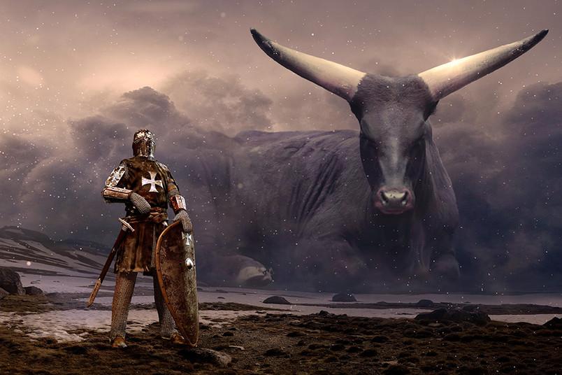 <div> Körper vom Menschen, Kopf vom Stier: Der Minotaurus ist ein Mischwesen.</div>