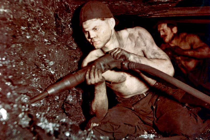 Bergarbeiter unter Tage