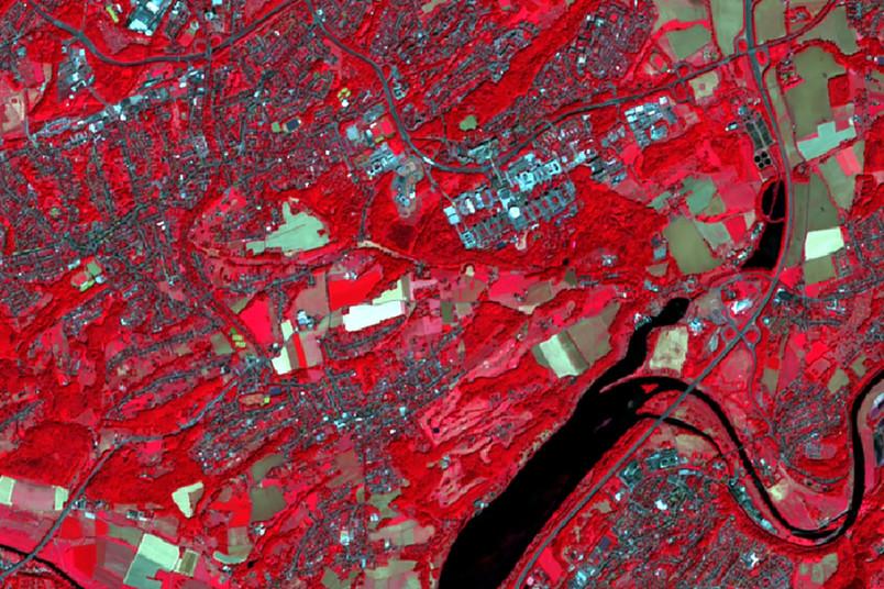 Satellitenaufnahme zeigt Bochum und die Ruhr-Universität Bochum