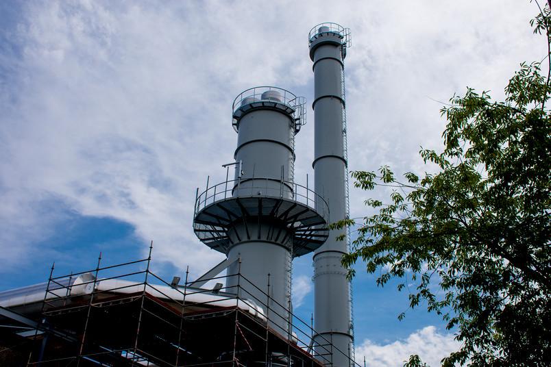 Kamin des neuen Kraftwerks