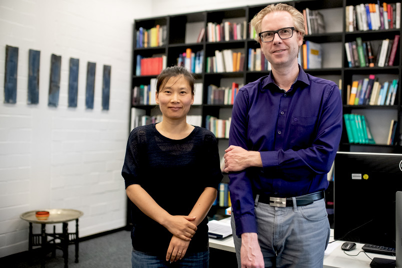 Hui Zhang und Nikolai Axmacher