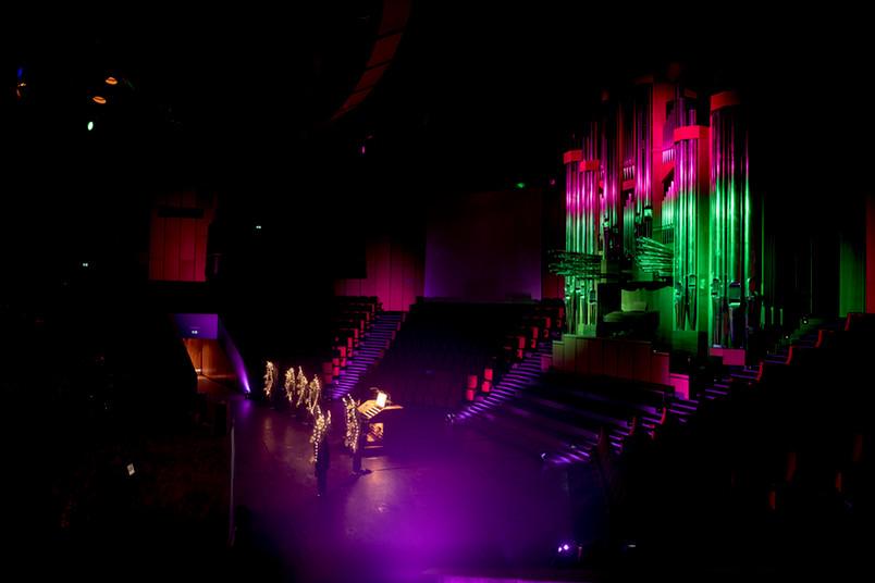 Farbspiele im Audimax