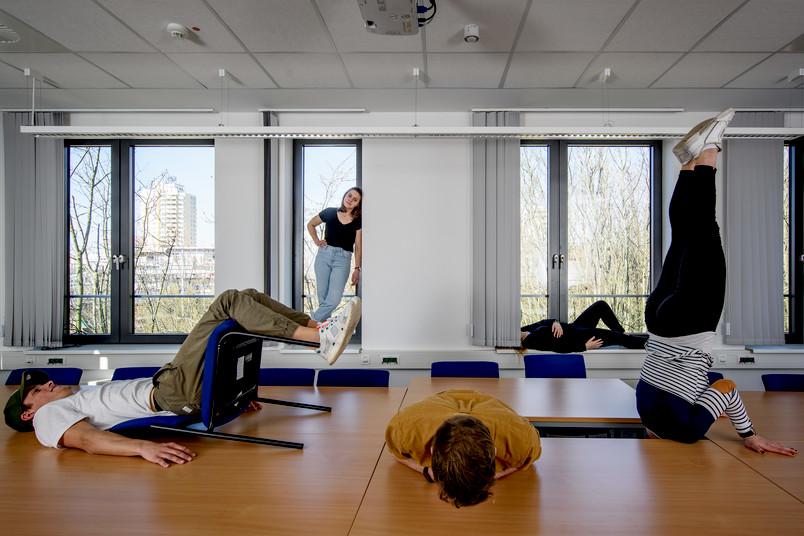 """<div> In dem Seminar """"Kulturelle Bildung"""" erschließen die Studierenden mithilfe ihrer Körper ihre Umwelt aus neuen, ungewohnten Perspektiven.</div>"""