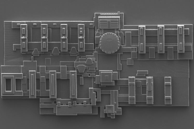 Elektronenmikroskopische Aufnahme des Mini-RUB-Modells