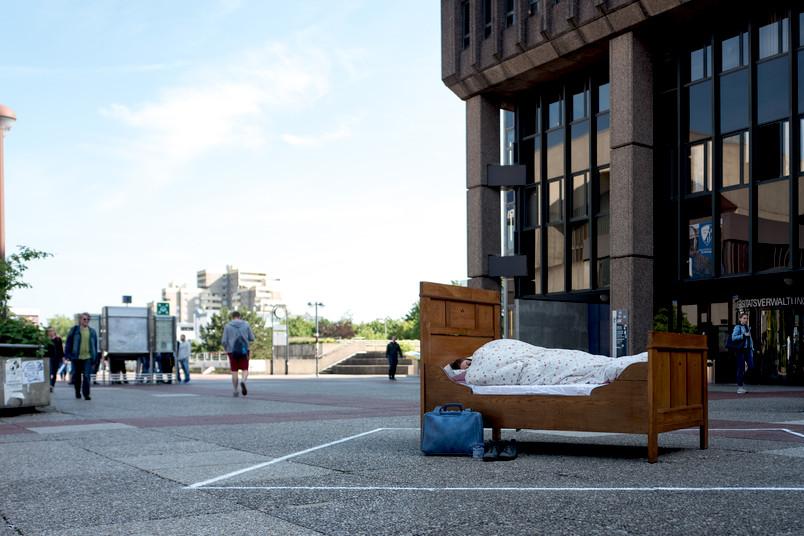 Bett auf dem Nordforum der RUB