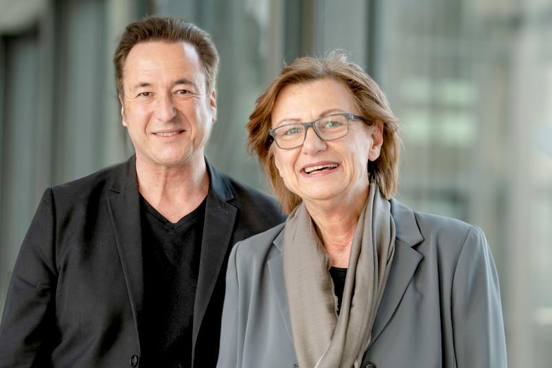 Porträtfoto von Hubert Hundt (links) und Barbara Kruse