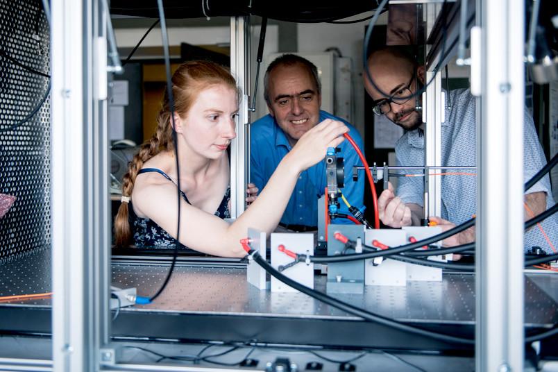 Drei Forscher