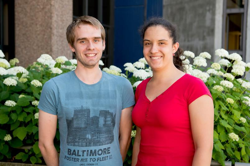 <div> Jürgen Klooß und Sarah Rijo Langenegger enagieren sich in der Ortsgruppe von Arbeiterkind.de.</div>