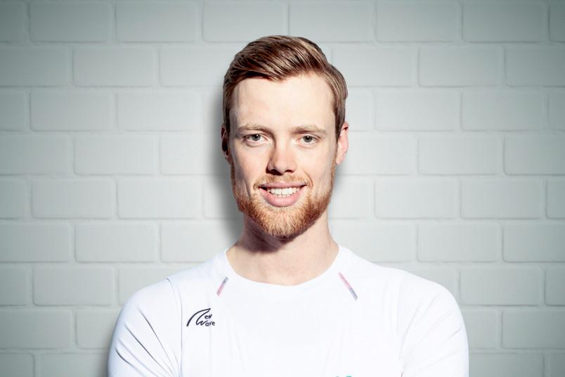 Porträt von einem Sportler