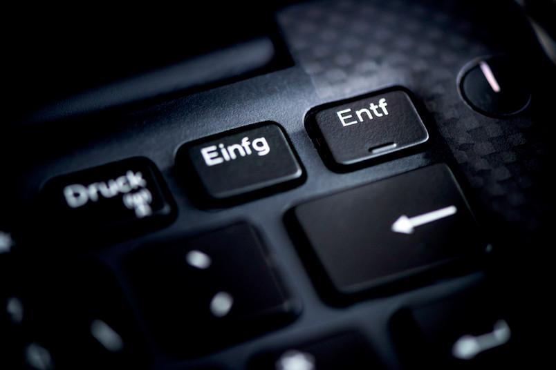 Entfernen-Taste einer Computertastatur