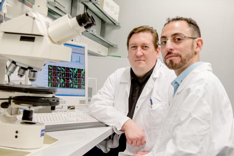 Harald Platta (links) und Fahid Boutouja