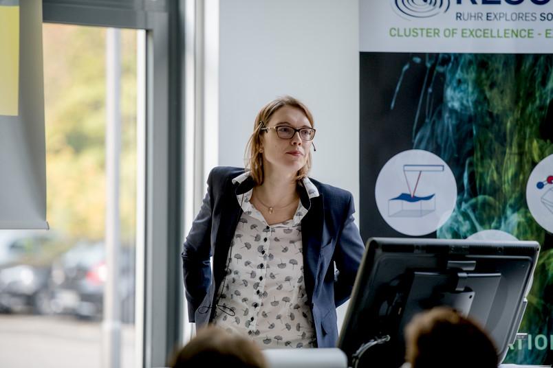 Kristina Tschulik kümmert sich um den weiteren Aufbau und die Arbeit des Gründungszentrums Start4Chem