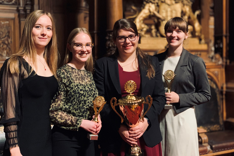 Vier Studentinnen