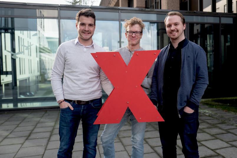 <div> Linus Stieldorf, Robert Queckenberg und Clemens Nasenberg (von links nach rechts) gehören zum 30-köpfigen Organisationsteam der Veranstaltung.</div>