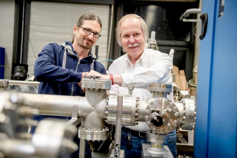 Porträt der Physiker Arne Ludwig und Andreas Wieck
