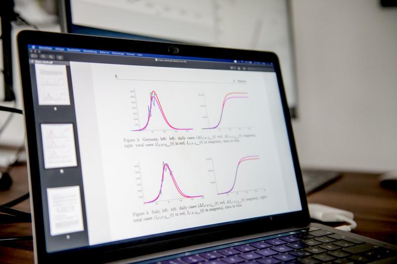Grafiken auf einem Computermonitor