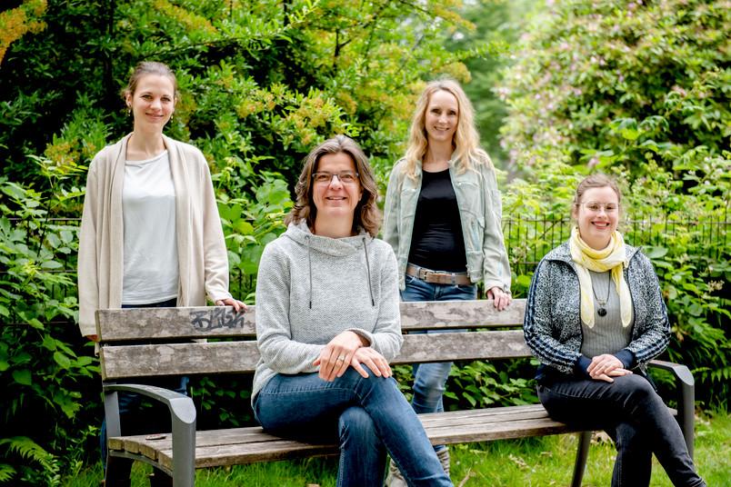 Vier Frauen draußen, Team des Gleichstellungsbüros der RUB