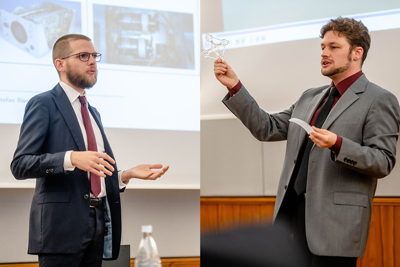 Frederik Schmidt und Dustin Jantos wurden mit dem Eickhoff-Preis ausgezeichnet.