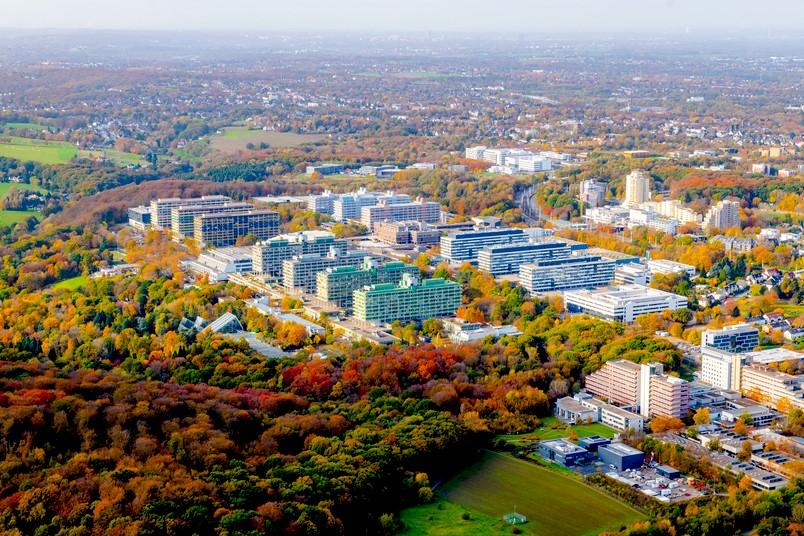 Luftbild vom Campus der RUB und Umgebung