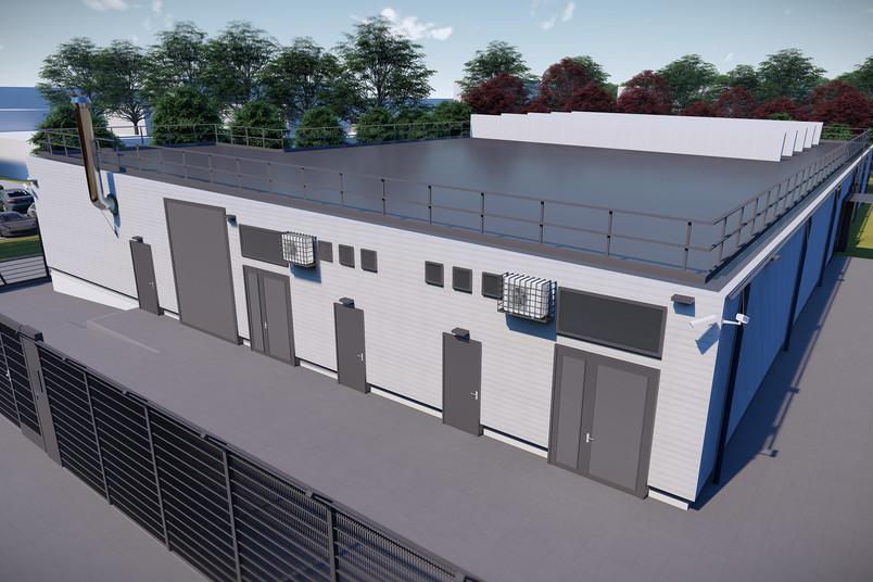 Modell des künftiges Datacenters der RUB