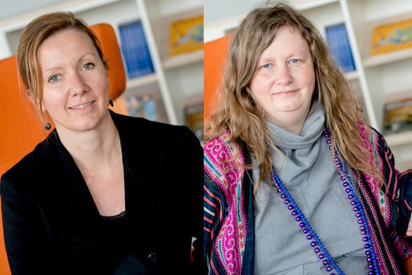 <div> Die Preisträgerinnen: Dr. Barbara Roggema (links) und Prof. Dr. Alexandra Cuffel</div>
