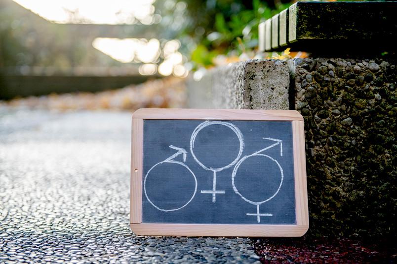 Schild mit Symbolen
