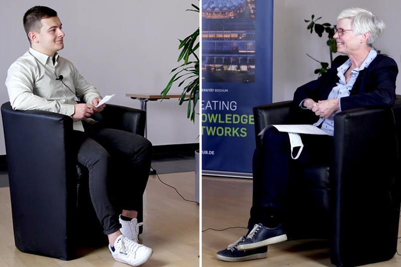 <div> Arslan Gabdulkhakov im Gespräch mit Kornelia Freitag</div>