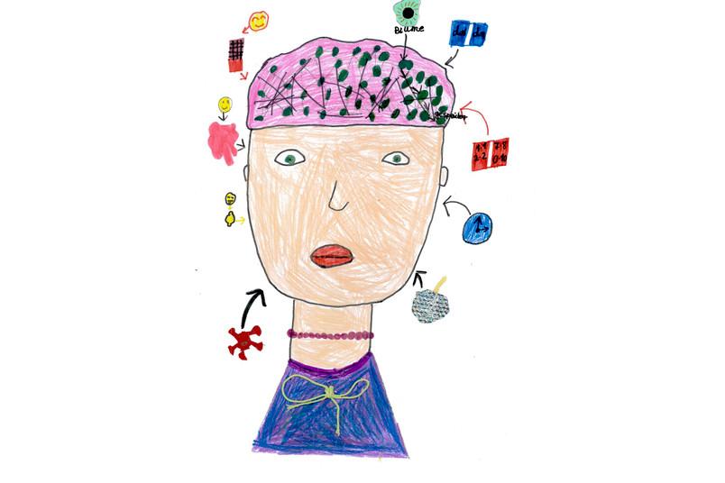 Kinderbild von einem Kopf