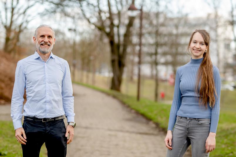 Marc Nowaczyk und Anna Frank