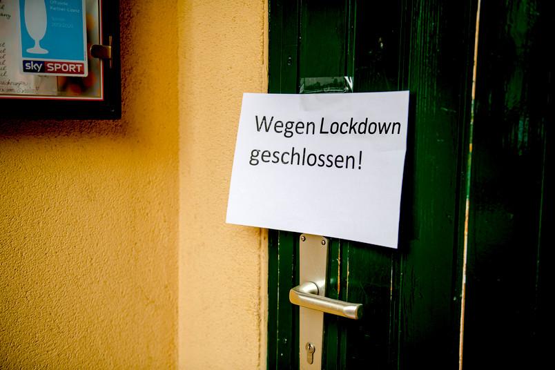 Lockdown-Schild