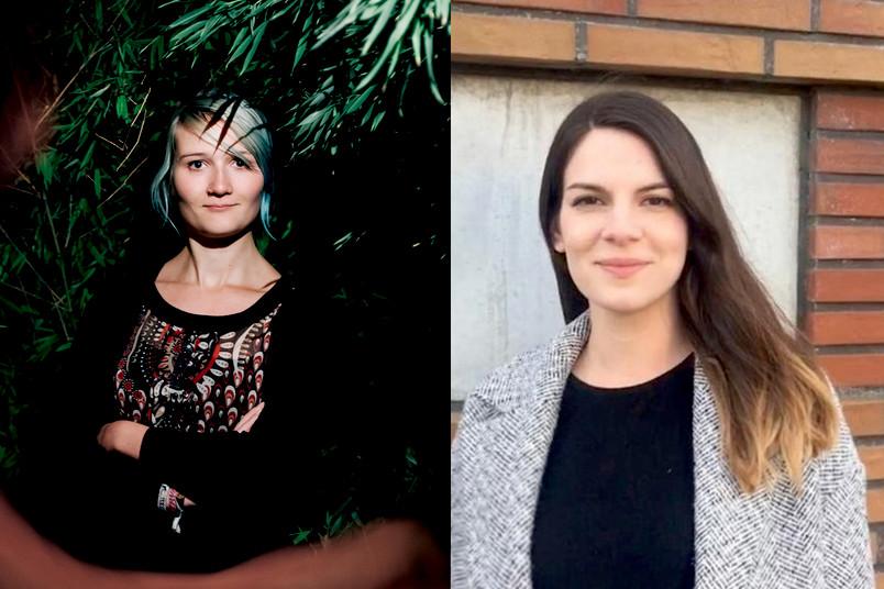 Die Journalistinnen Lisbeth Schröder und Corinna Hartmann