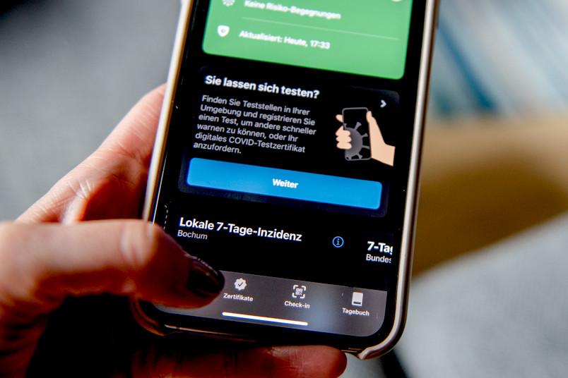 Stellvertreterbild mit der Corona-Warn-App