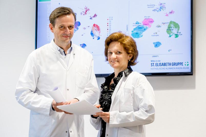 <div> Timm Westhoff und Nina Babel vom Marien Hospital Herne, Universitätsklinikum der RUB (Archivfoto)</div>