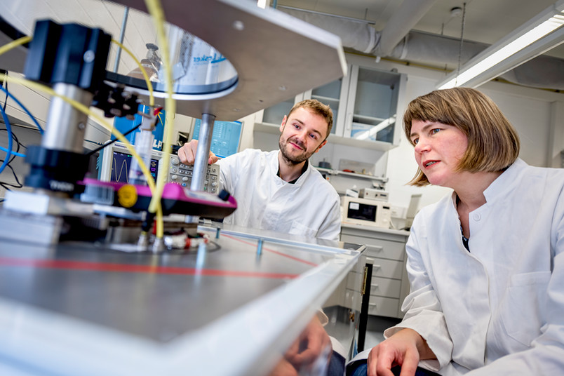 Zwei Wissenschaftler