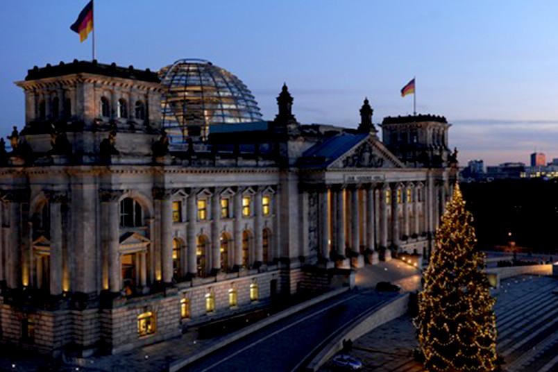 Außenaufnahme des Bundestages